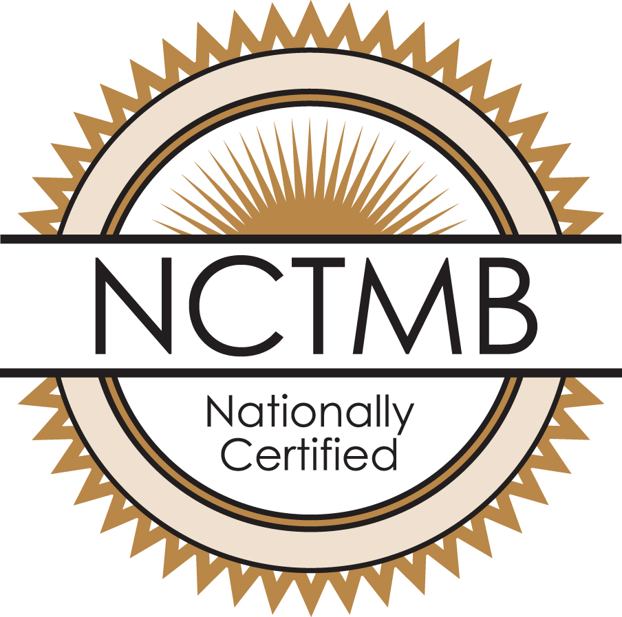 Missy Monacella LMT is proud to be Nationally Certified in Therapeutic Massage & Bodywork.